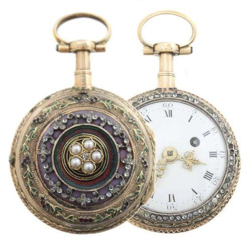 Montre de poche à répétition des quarts d'heure pour dames Paris, Louis Mallet, …