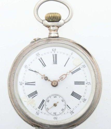 Montre de poche pour homme Suisse, vers 1900, argent 800/pièce. Restes de dorure…