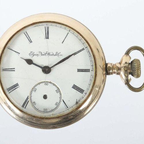 Montre de poche pour homme Elgin Nat. Watch Co., USA, vers 1900, métal/doré, cad…