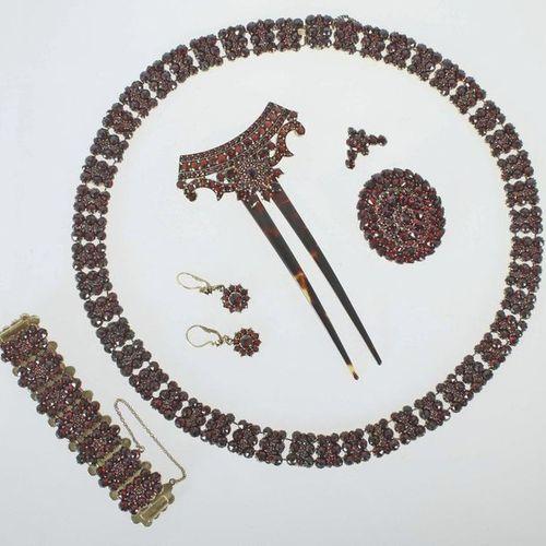 Bohême de Granat Parure, principalement au milieu du XIXe siècle, tombac/garnet,…