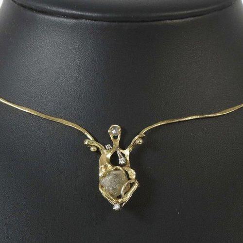 Collier c. 1984, Juwelier Maar/Radolfzell, or jaune 750, de fabrication artisana…