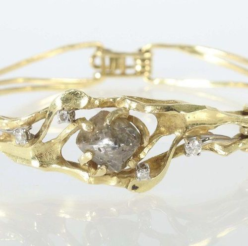 Bracelet d'environ 1984, joaillier Maar/Radolfzell, or jaune 750, artisanal/uniq…