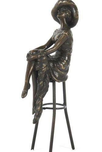 Chiparus, Dimitri Dorohoi 1886 1947 Paris, sculpteur et céramiste roumain Dame a…