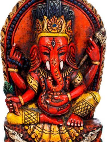Nepalese Seated Ganesha Holding a Radish This youthful, valiant posture of Ganes…