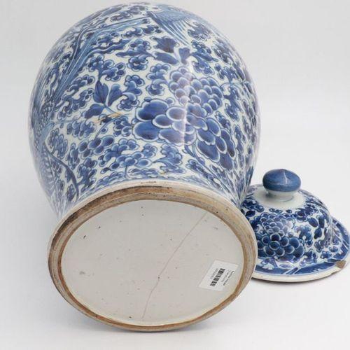 CHINA, XVIII CENTURY Porcelain jar painted Phoenixes and stylized flower branche…