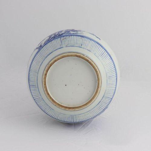 "CHINA, XVIII CENTURY A ""Phoenixes"" blue and white bottle vase, XVIII century the…"