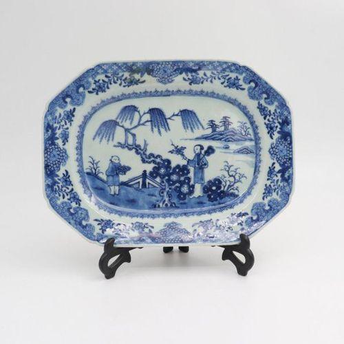 CHINA, XIX CENTURY Tea tray, XIX century Rectangular porcelain dish painted with…