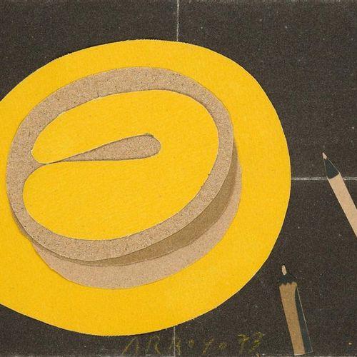 EDUARDO ARROYO (1937 2018) Sombrero, 1973  Technique mixte, collage sur toile sa…
