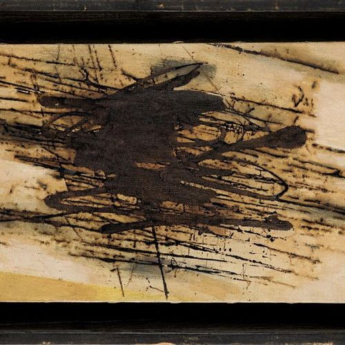 SIEGFRIED NEUENHAUSEN (1931) Senza Titolo Huile et techniques mixtes sur toile  …