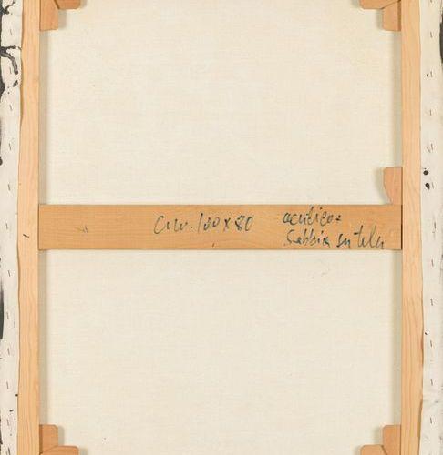 AGOSTINO FERRARI (1938) Evento, scittura, 1987 Acrylique et sable sur toile  100…