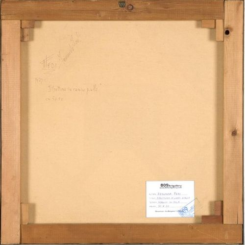 FERNANDA FEDI (1940) Struttura in campo giallo, 1972 Acrylics on canvas  50x50 c…