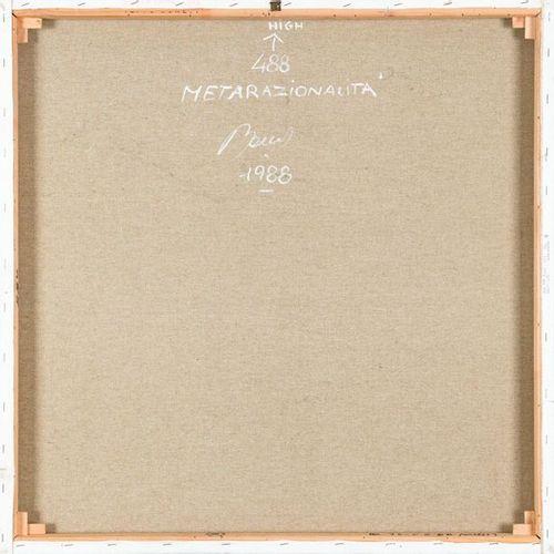BEPPE BONETTI (1951) Metarazionalità 488, 1988 Acrylique sur toile  cm 80x80x3,5…
