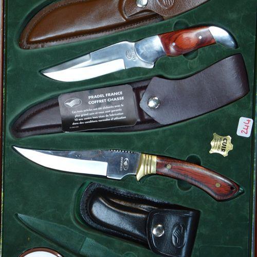 Un coffret de couteaux de chasse null
