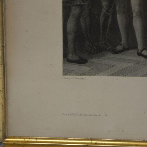 """L. DETOUCHE (d'après) """"Christophe Colomb et Isabelle de Castille"""".  Lithographie…"""