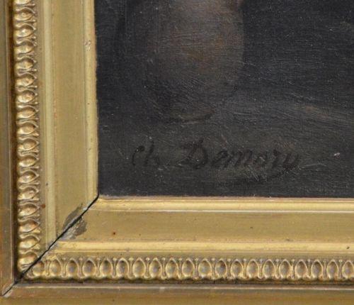 """CHARLES THÉOPHILE DEMORY (1833 1895) """"La fileuse"""".  Huile sur panneau de bois si…"""