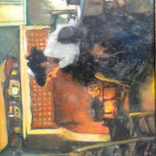 """Louis FORTUNEY (1875 1951) """"L'arlésienne"""".  Pastel signé en bas à gauche.  50 x …"""