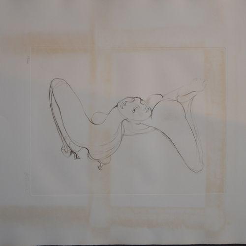 "Hans BELLMER (1902 1975) ""反转裸体""。  蚀刻版画右下方有铅笔签名,编号63/100。  65,5 x 50,5厘米。  (雀斑和污点…"