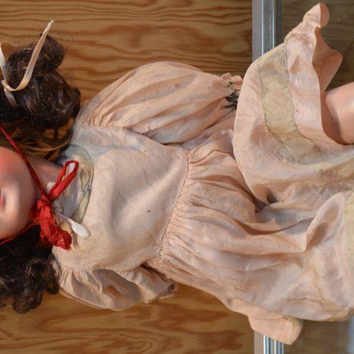 Poupée tête porcelaine marqué en creux à l'arrière 法国模具301号,10号,婴儿Jumeau身体。嘴巴张开,…