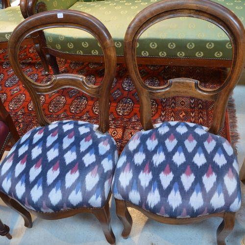 Paire de chaises de style Restauration à dossier ajouré null