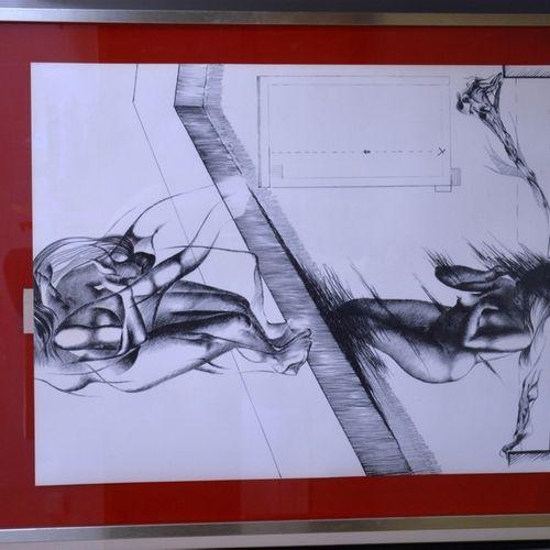 "François J.M. PORTELETTE (né en 1936) ""一号池""。  石版画右下方有铅笔签名,有标题和EA。  65 x 47.5厘米。"