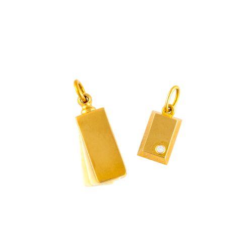 """Cartier """"Pendentif en or 1/8OZ DIAMANT TOP、IVOIRE TOP 2 PIÈCES SET"""" 24.3×15.1 cm…"""
