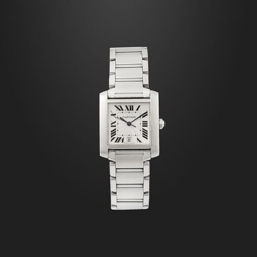 """CARTIER """"Tank"""", Automatic, Ref. 2302 Fine, self winding, water reistant, stainle…"""