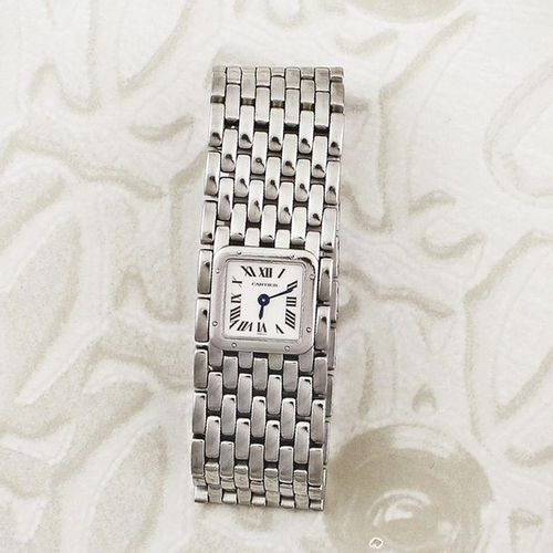 CARTIER Panthere Ruban Fine, water resistant, lady's quartz wristwatch with an i…
