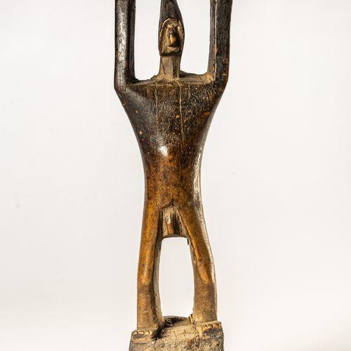 AFRIKANISCHE HOLZ GESCHNITZE AHNENFIGUR DER BAMANA IN MALI 33,5 cm de hauteur (s…