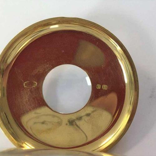 C1900, le couvercle avant avec des chiffres romains en émail bleu et un cercle d…