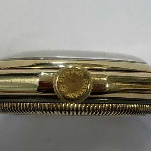 C1929, the signed quartered two tone (champagne and silvered) Art Deco style dia…