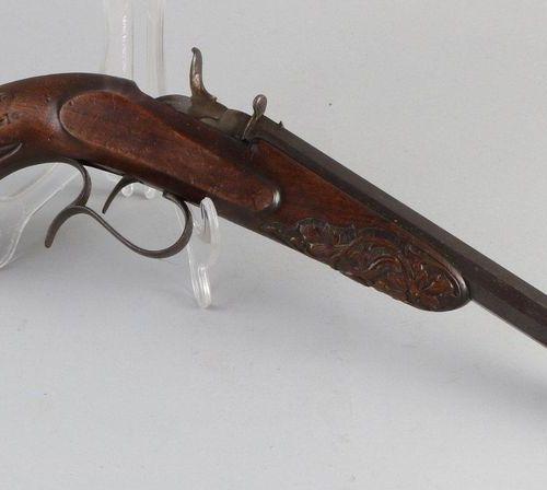 Antique pistol Pistolet du début du XIXe siècle à canon octogonal. Signé. CL Wit…