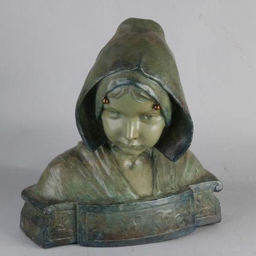 Antique terracotta bust Buste ancien en terre cuite de Friedrich Goldscheider Wi…