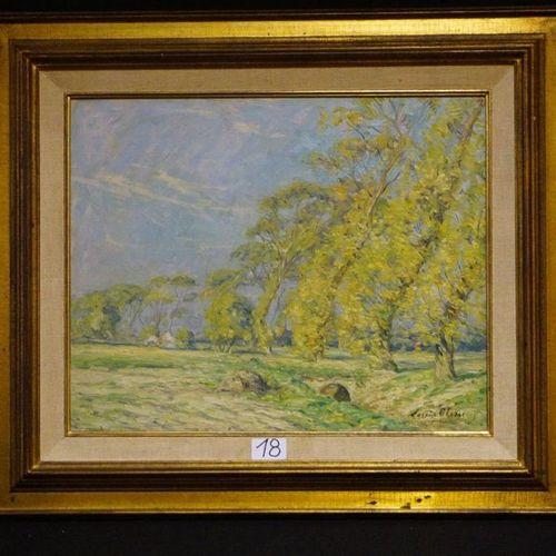 "Louis clesse (1889 1961) ""Paddegat Oudenburg"" Oil on panel Signed 40 x 50 cm"
