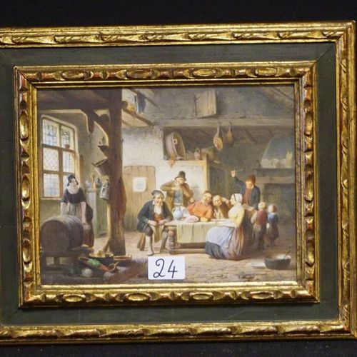 "CHARLES VENNEMAN (1802 1875) ""Tavern scene Watercolour Signed and dated 1853 Fin…"