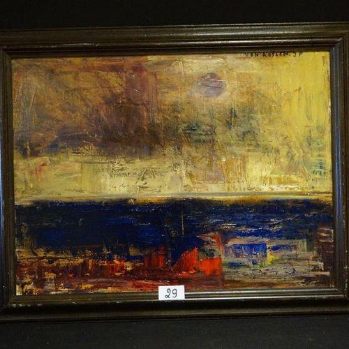 """JEAN PIERRE VAN ROSSEM (1945 2018) """"Ode to A.Kiefer"""" Oil on canvas Signed upper …"""