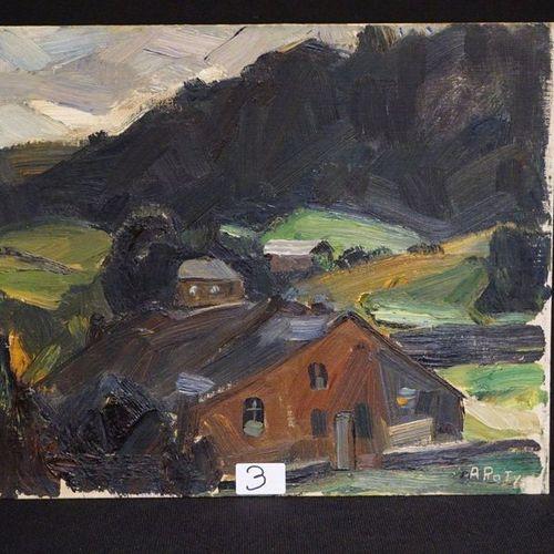 "ALBERT RATY (1889 1970) ""Landscape"" Oil on panel Signed Rear label GUILLAUME CAM…"
