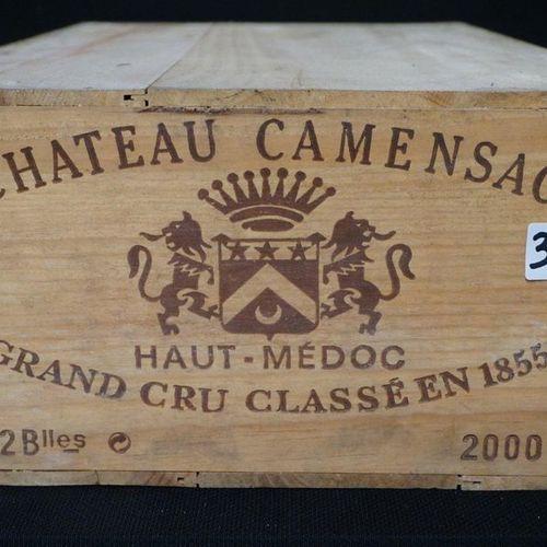 "12 FLESSEN RODE WIJN ""CHATEAU CAMENSAC 2000 HAUT MEDOC GRAND CRU CLASSE EN 1855 …"