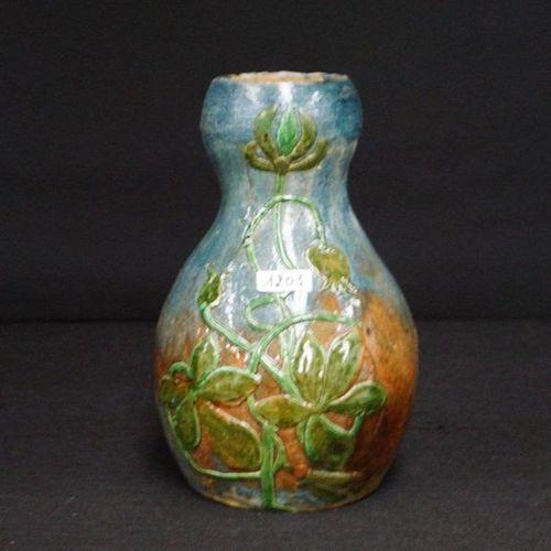 VERZAMELVAAS TORHOUTS earthenware Floral decor H: 24 cm