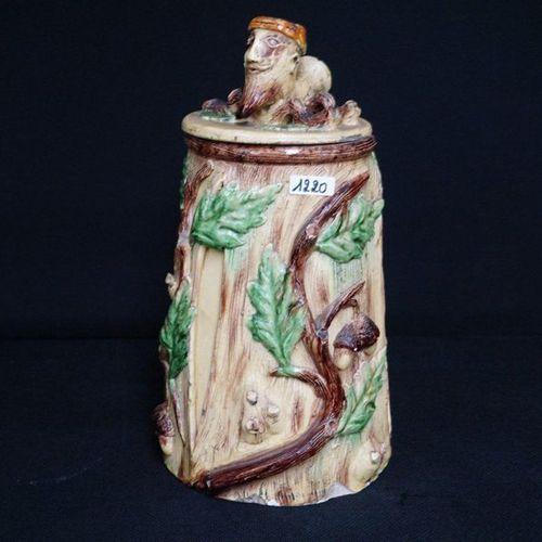 "ZELDZAME TABAKSPOT Flemish pottery ""J. DAENEN ROGGEN TONGEREN"" Decorated with ac…"
