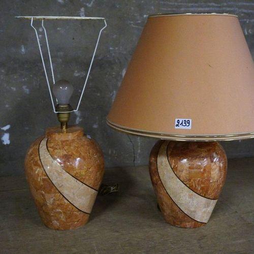 2 MODERNE LAMPADAIRES H: 65 cm
