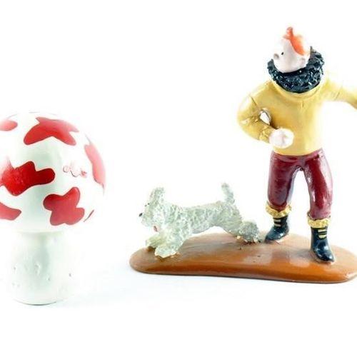 "Hergé/Tintin. Ref 4517 ""Tintin, Snowy and the mushroom"". Taken from the album ""L…"