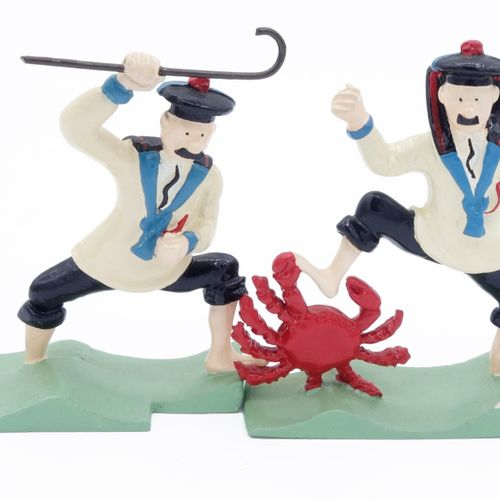 """Hergé/Tintin. Ref 4509 """"Dupond and Dupont with crab"""". Taken from the album """"Le t…"""