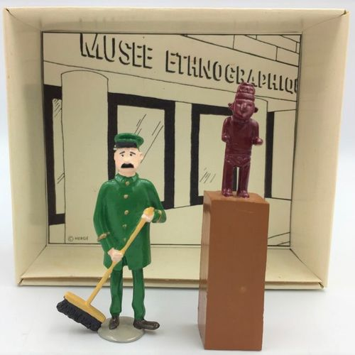 "Hergé/Tintin. Ref 4413 ""The Arumbaya fetish"" with Jules the museum keeper. Taken…"