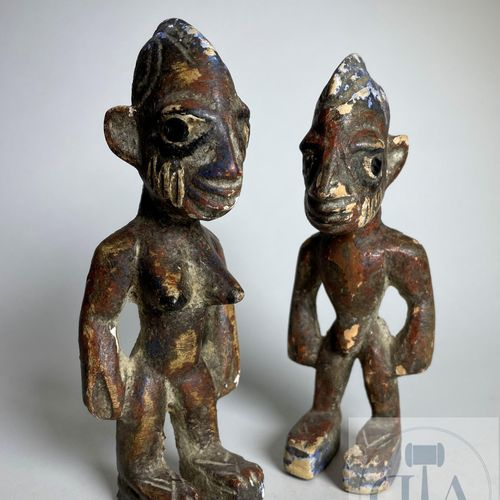 Pair of Ibejis statuette, Type Ila Ogbomosho, Yoruba, Nigeria Published on page …