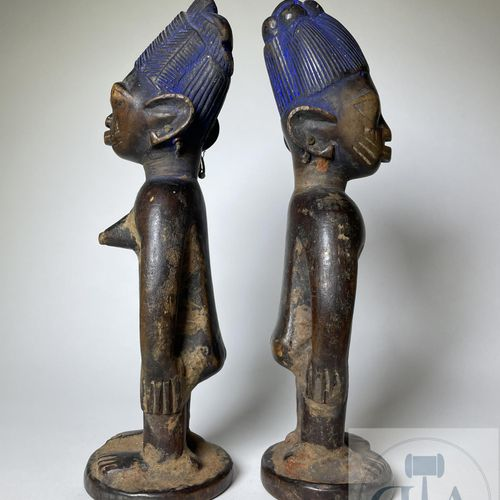 Pair of Ibejis statuette, Kwara type, Yoruba, Nigeria Published on page 52 in th…