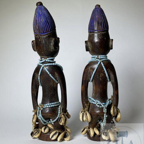 Pair of Ibidji statuette, Ilorin type, Yoruba, Nigeria Published on page 52 in t…