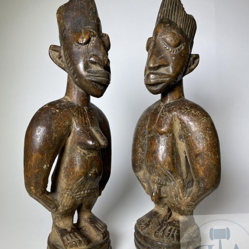 Pair of Ibejis statuette, type Oyo, Yoruba, Nigeria Published on page 51 in the …
