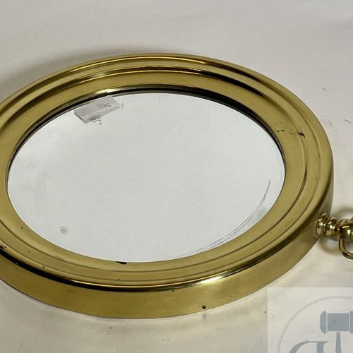 Mirror in the shape of a brass pocket watch. Italian manufacture. VERY GOOD COND…