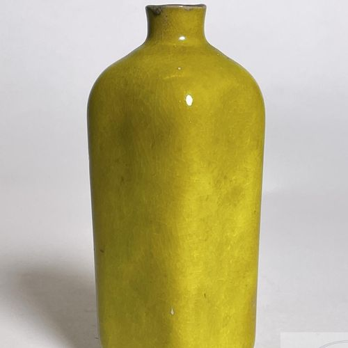 "Small ""bottle"" shaped vase signed ""sedona"". Glazed earthenware. American manufac…"