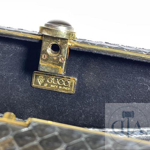 Gucci snake handbag circa 1960. TBE. 12 X 18 X 4 cm